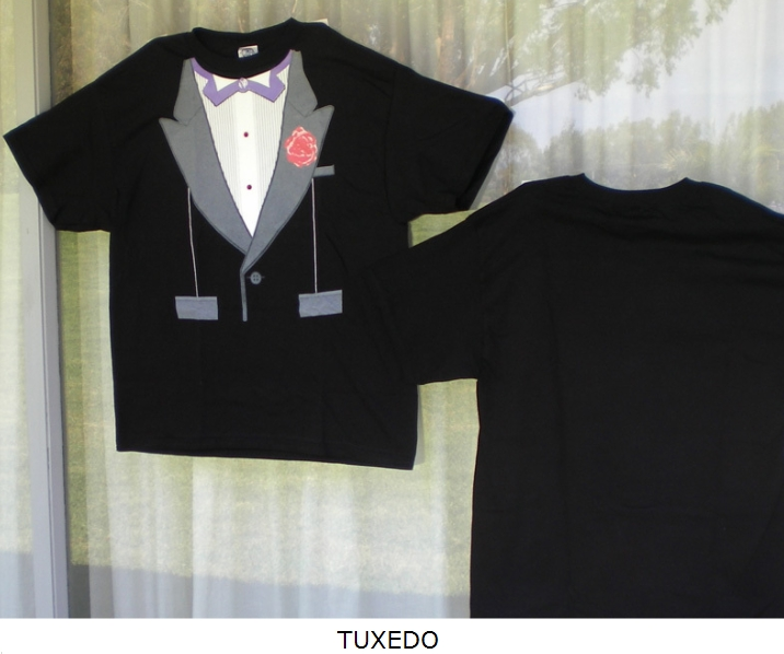 Tuxedo novelty t shirt carol 39 s cover ups body dreams for La imprints t shirts